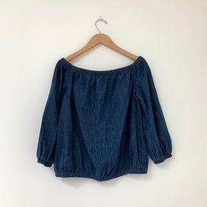 Universal Thread   Jean off Shoulder Blouse M